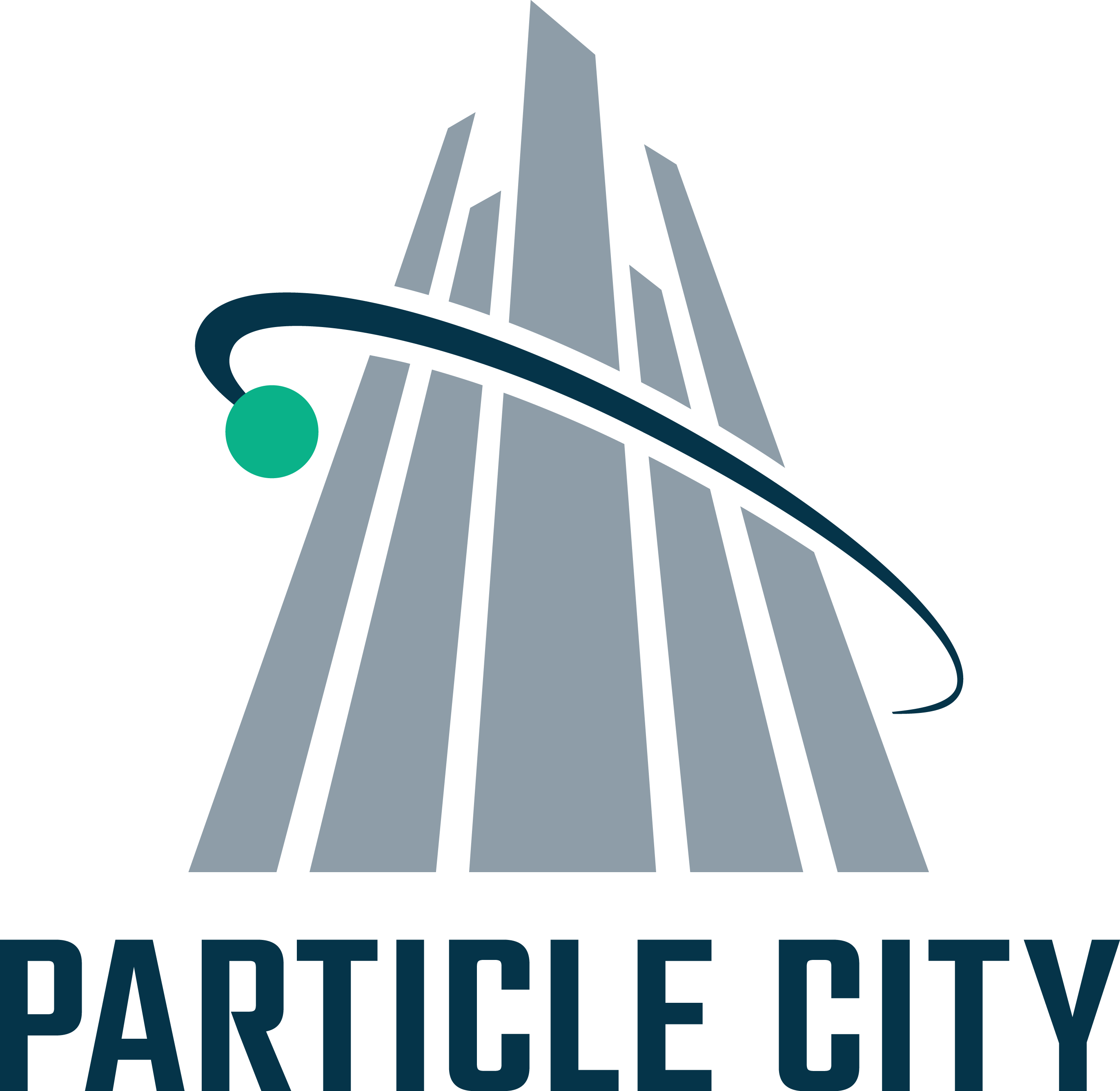 Particle City's logo